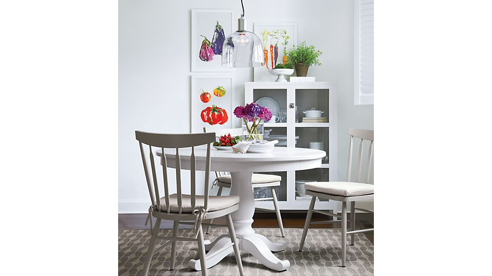 """Avalon 45"""" White Extension Dining Table"""