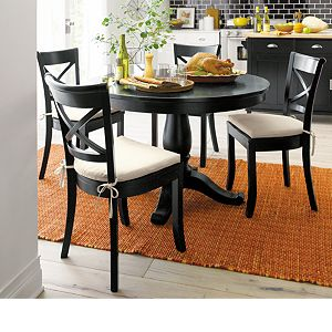 Vintner Black Wood Dining Chair and Cushion