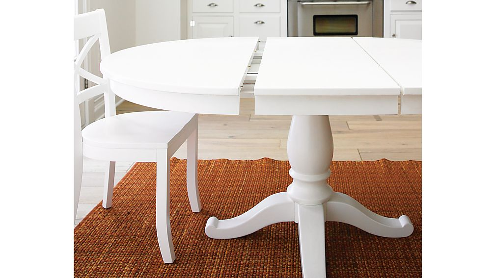 "Avalon 45"" White Extension Dining Table"