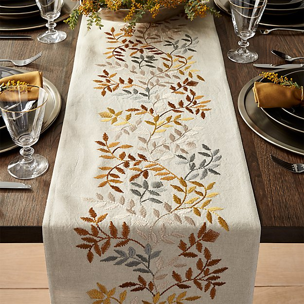 Aveline 120 silver and gold table runner crate and barrel for 120 table runners