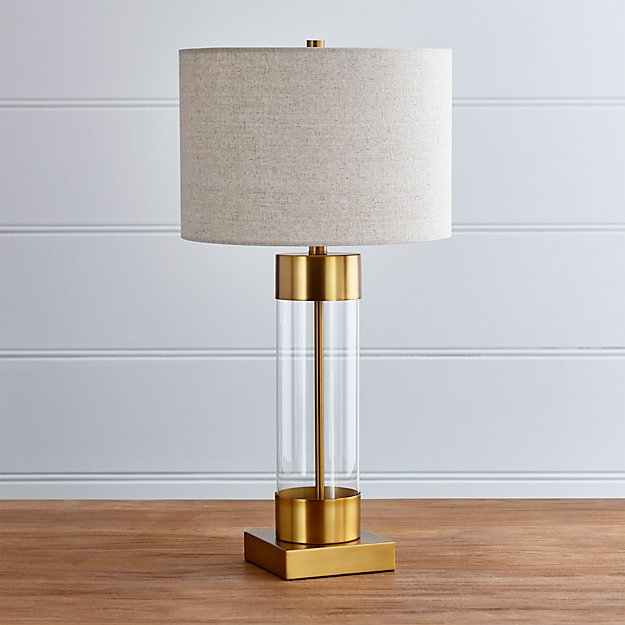 Avenue Brass Table Lamp With Usb Port Crate And Barrel