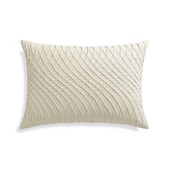 "Averie 22""x15"" Pillow with Feather-Down Insert"