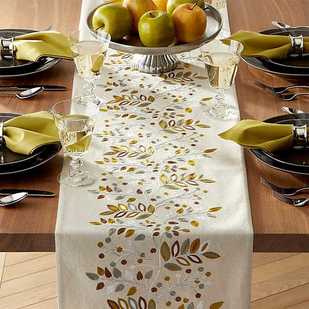 Averly sage 120 table runner crate and barrel for 120 table runners