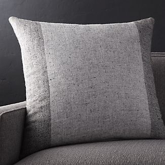 "Avi Graphite 23"" Pillow"
