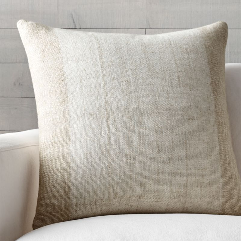"Avi Toast 23"" Pillow with Feather-Down Insert"