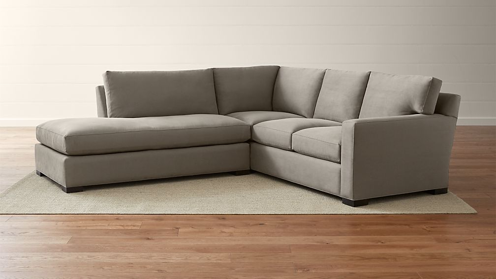 Axis ii 2 piece left bumper sectional sofa douglas coffee for Axis ii 2 piece sectional sofa