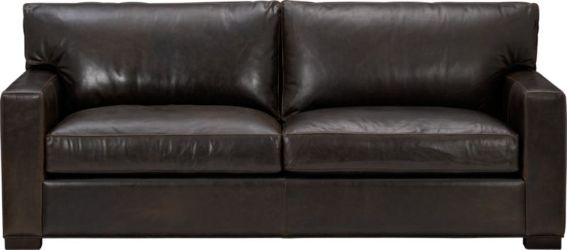 "The clean lines of our best-selling Axis relax—or sleep—with casual sophistication in rich full-grain leather. Its natural markings and vintage nature add rich character. Wide track arms and plump back cushions frame deep seat cushions. Block feet are stained a warm hickory. Sleeper mechanism features an anti-tip safety feature, low-profile support system and tilt-up headrest. Innerspring mattress with has a quilted top pad.<br /><br />After you place your order, we will send a leather swatch via next day air for your final approval. We will contact you to verify both your receipt and approval of the leather swatch before finalizing your order.<br /><br /><NEWTAG/><ul><li>Eco-friendly construction</li><li>Certified sustainable, kiln-dried hardwood frame</li><li>Seat cushions are multilayer soy- or plant-based polyfoam wrapped in fiber-down blend and encased in downproof ticking</li><li>Back cushions are fiber-down encased in downproof ticking</li><li>5.5"" innerspring mattress with quilted top pad</li><li>Axis sleeper sofas open to a depth of 95.75""</li><li>Synthetic webbing suspension</li><li>Upholstered in full grain, aniline-dyed leather with topstitching</li><li>Hickory-stained hardwood legs</li><li>Benchmade</li><li>See additional frame options below</li><li>Made in North Carolina, USA of domestic and imported materials</li></ul>"