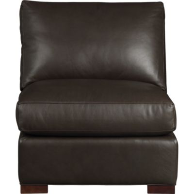 Axis II Leather Armless Sectional Chair