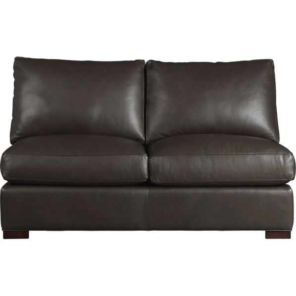 Axis Leather Sectional Armless Loveseat