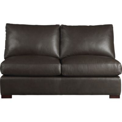 Leather Sectional Loveseat | Leather Sectional Love Seat | Crate ...
