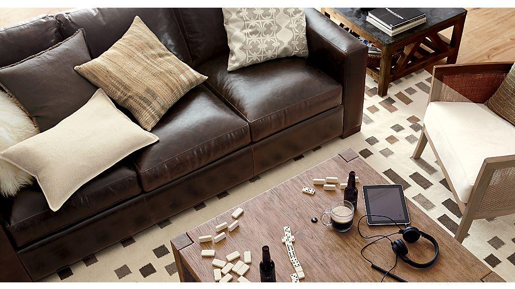 Axis II Leather 3-Seat Queen Sleeper Sofa