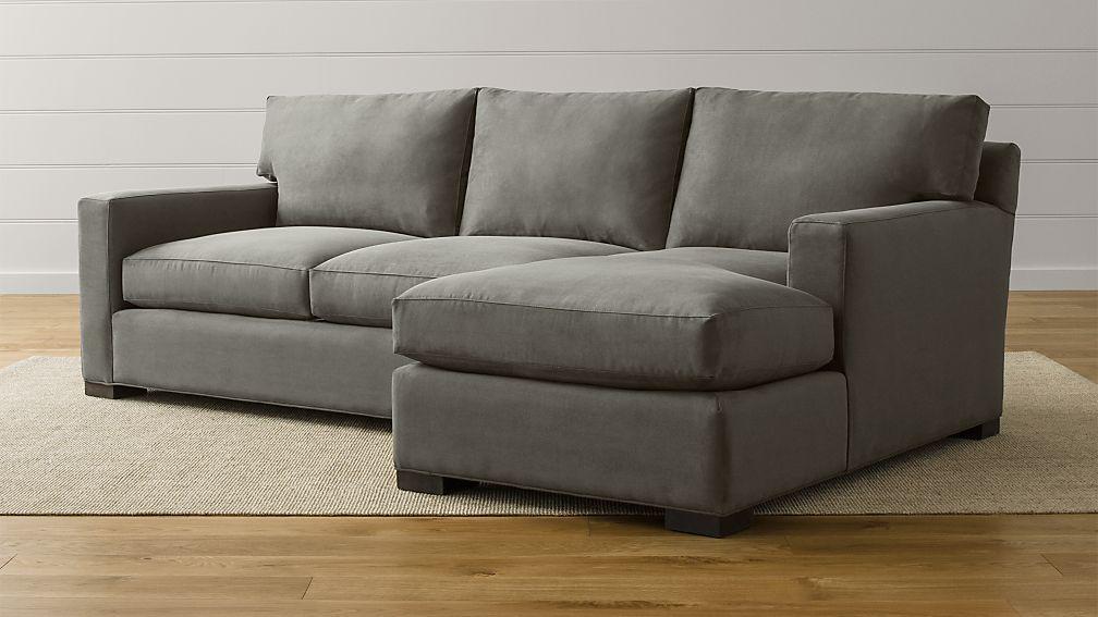 Axis Ii 2 Piece Sectional Sofa Douglas Charcoal Crate
