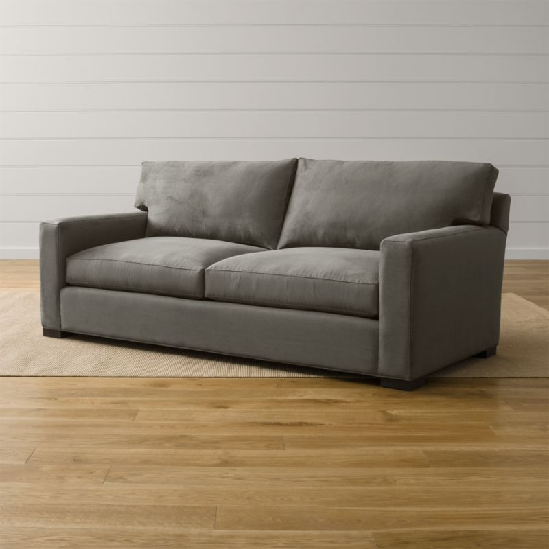 Axis Ii Grey Microfiber Sofa Crate And Barrel