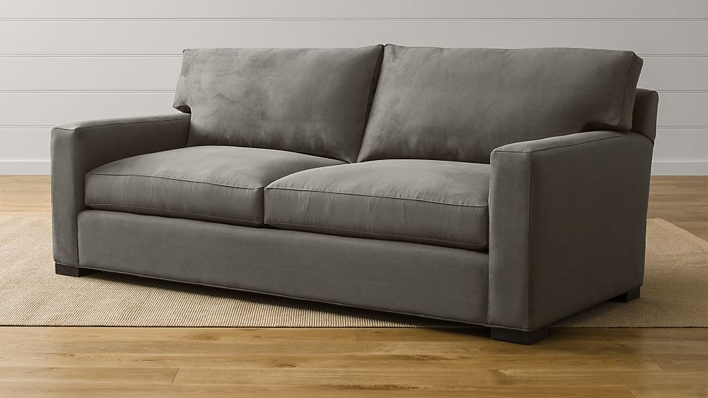 Axis II Grey Microfiber Sofa | Crate and Barrel