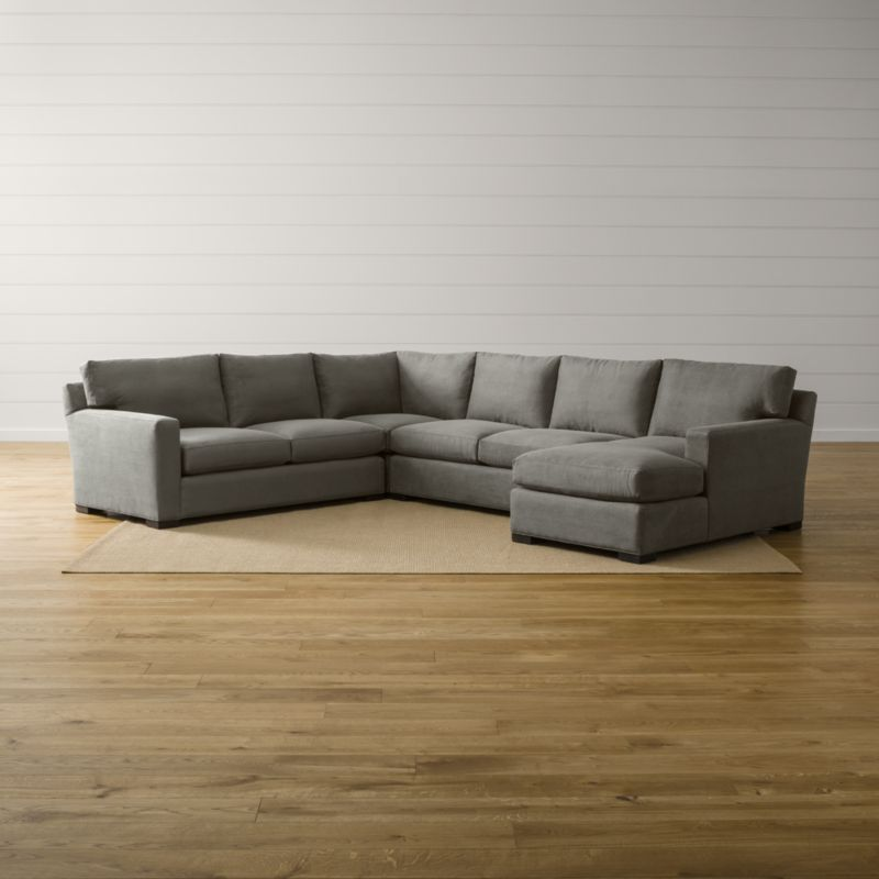 Axis Ii 4 Piece Sectional Sofa Douglas Charcoal Crate