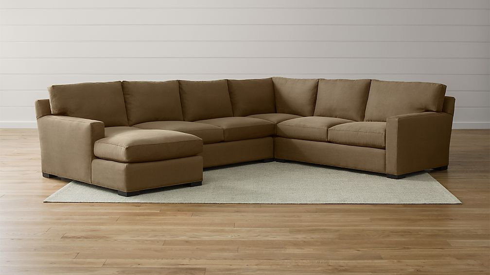 Axis II 4-Piece Sectional Sofa Douglas: Coffee : Crate and Barrel