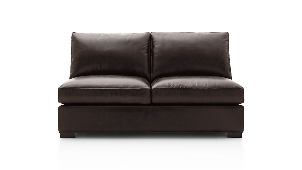 Axis II Leather Armless Full Sleeper Sofa