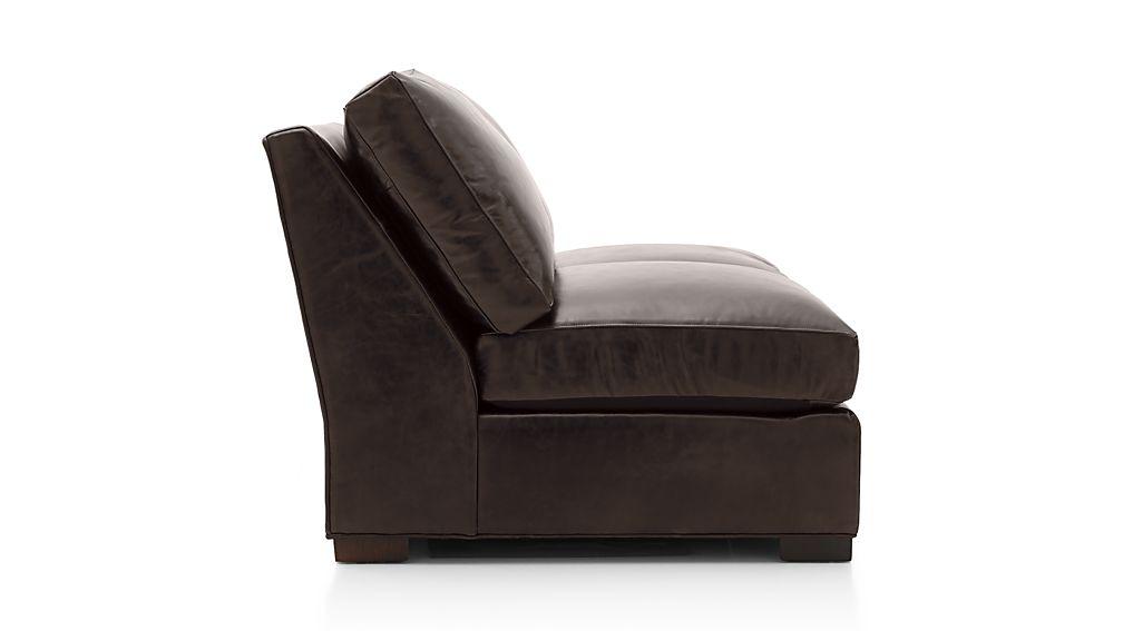 Axis II Leather Armless Full Sleeper Sofa with Air Mattress