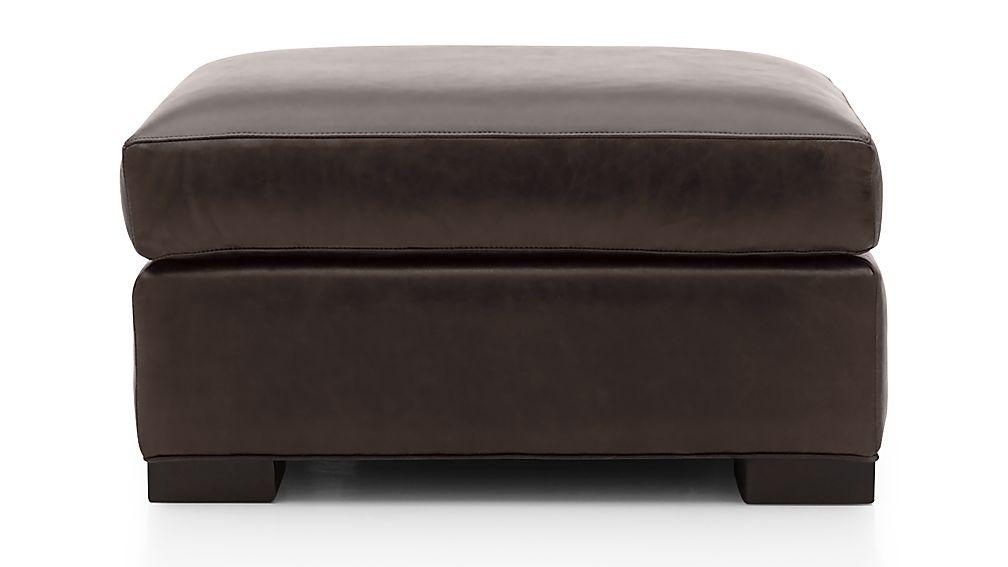 Axis II Leather Ottoman