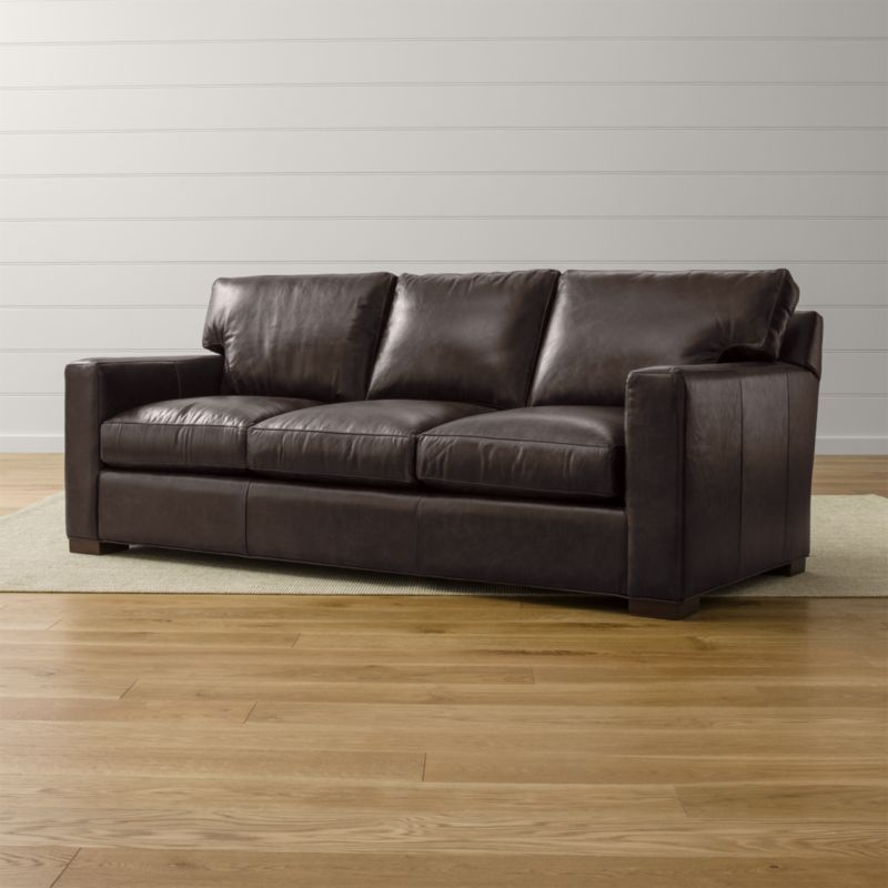 Axis Ii Leather 3 Seat Queen Sleeper Sofa Libby Espresso
