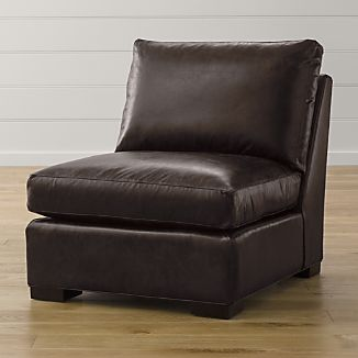 Leather arm chair crate and barrel for Crate and barrel armless chair