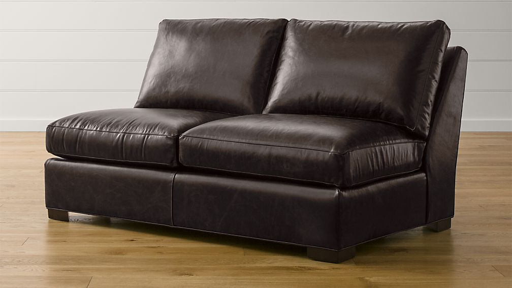 Axis Ii Leather Armless Full Sleeper Sofa With Air Mattress Libby Espresso Crate And Barrel
