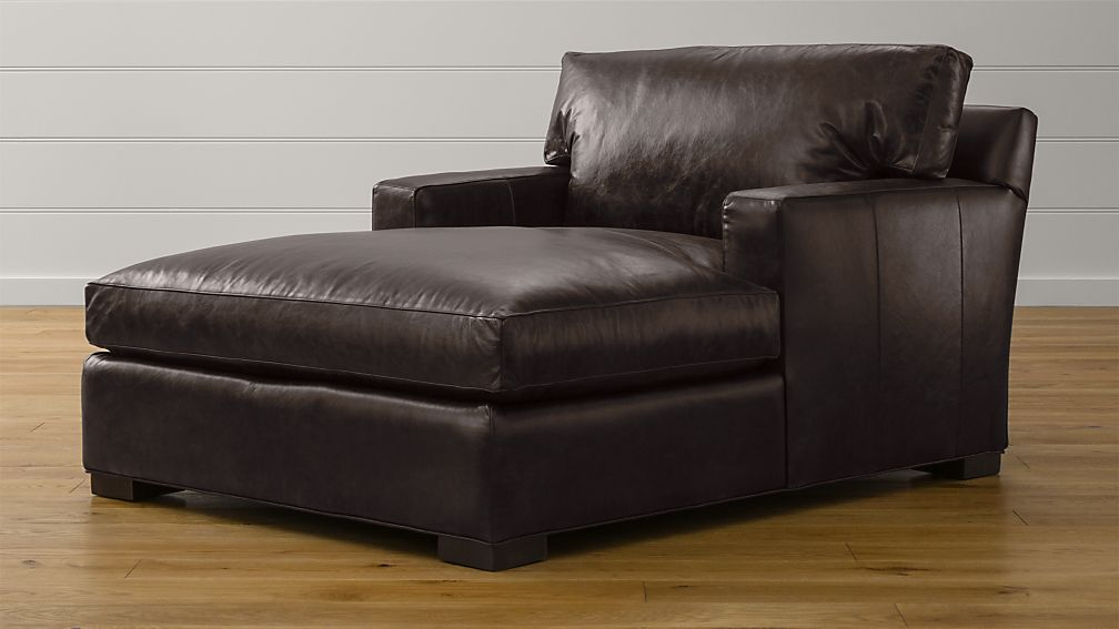 Axis Ii Leather Chaise Lounge Libby Espresso Crate And