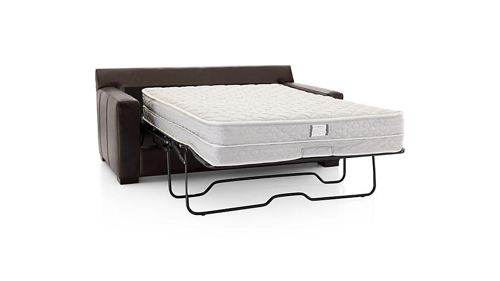 Axis II Leather Full Sleeper Sofa with Air Mattress
