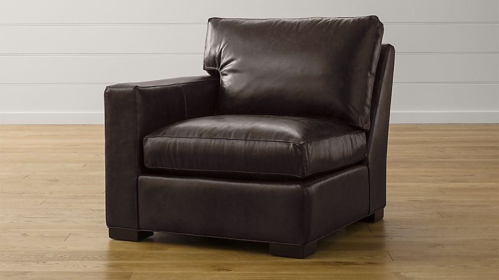 Axis II Leather Left Arm Sectional Chair