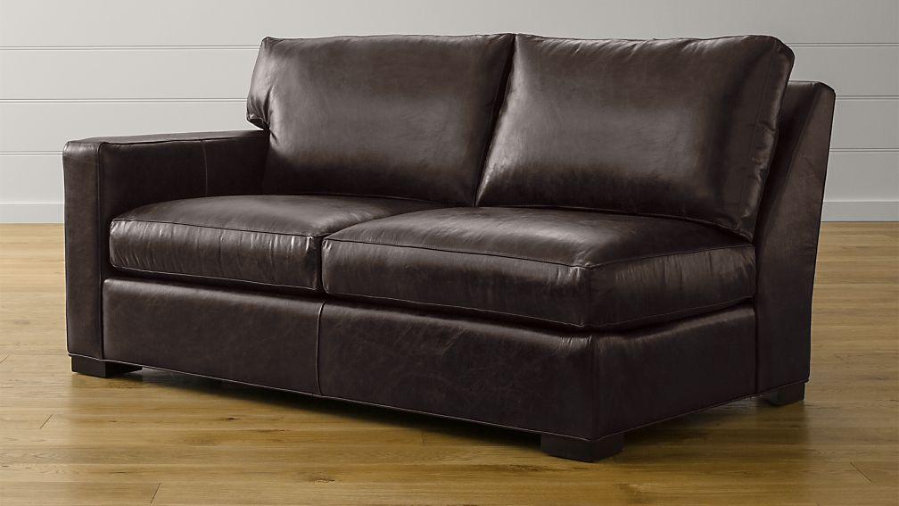 Axis II Leather Left Arm Apartment Sofa