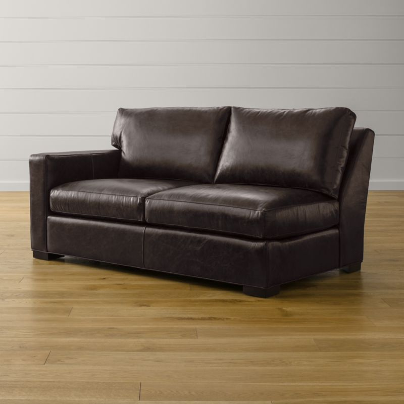 Axis II Leather Left Arm Apartment Sofa