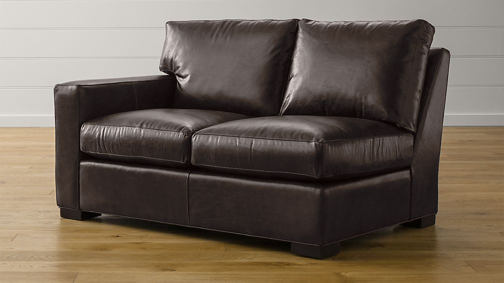 Axis II Leather Left Arm Loveseat