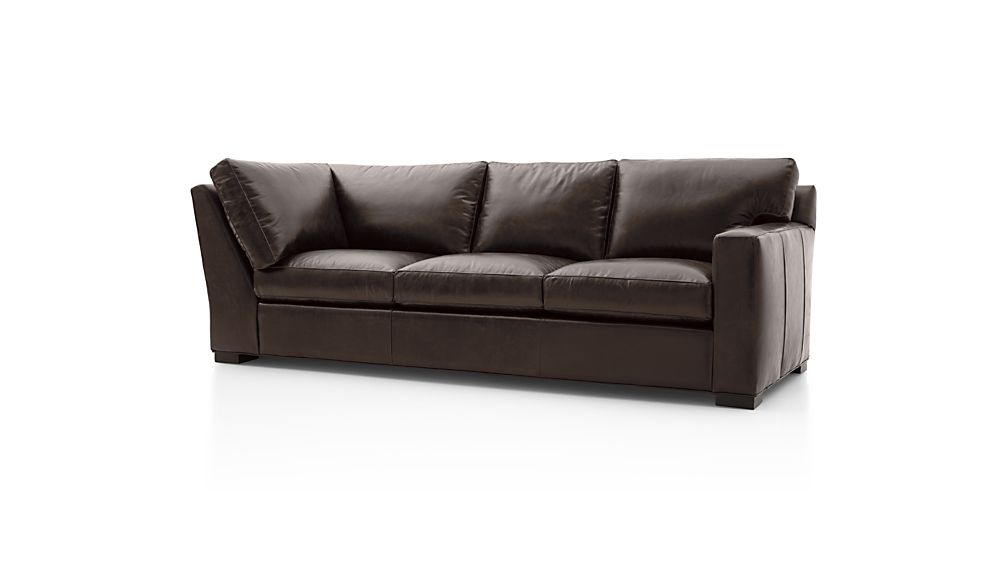 Axis II Leather Right Arm Corner Sofa