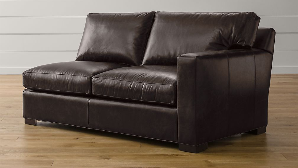 Axis II Leather Right Arm Apartment Sofa