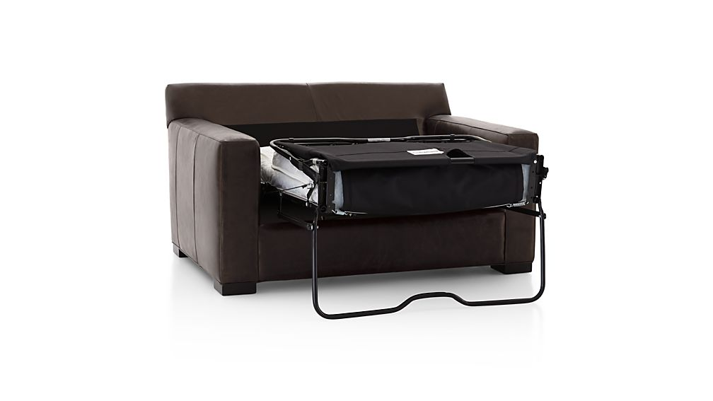 Axis II Leather Twin Sleeper Sofa with Air Mattress
