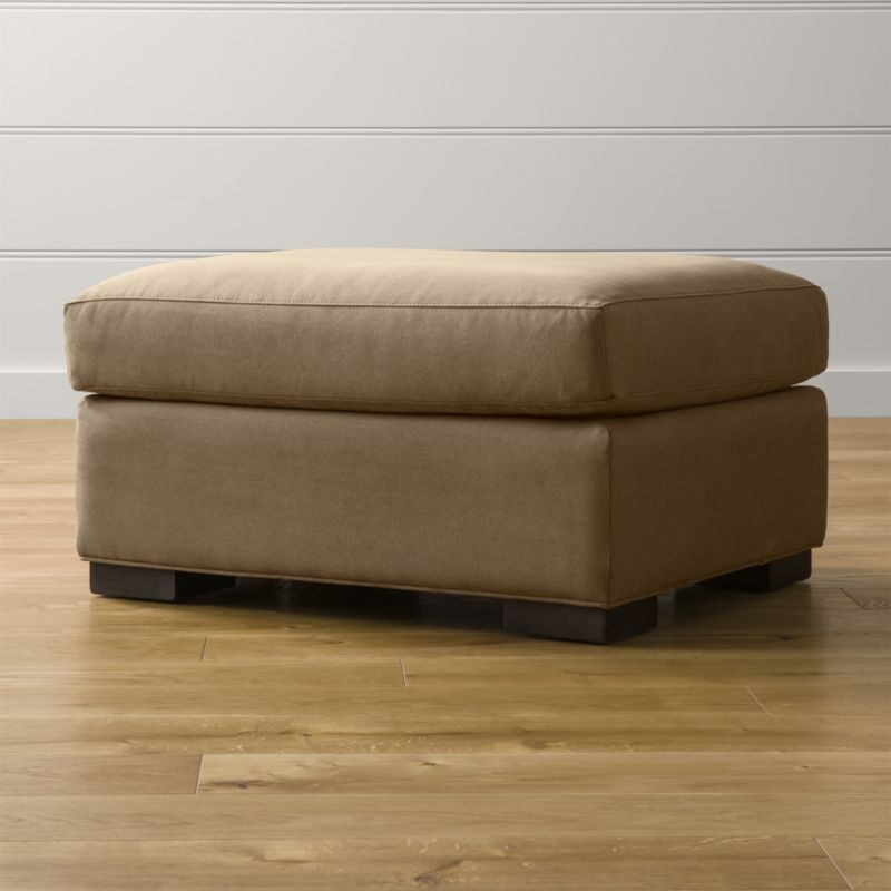 Axis ii ottoman douglas coffee crate and barrel for Crate and barrel pouf