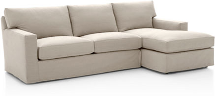 Axis Slipcovered Sectional Sofas Crate And Barrel