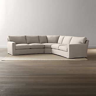 Axis II Slipcovered 3-Piece Sectional Sofa