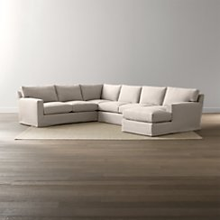Axis II Slipcovered 4-Piece Sectional Sofa