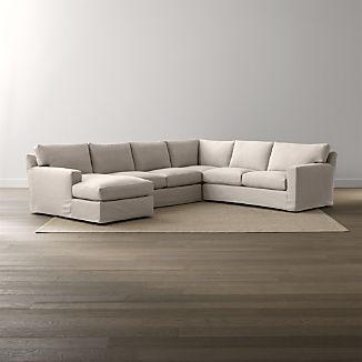 Axis II Slipcovered 4-Piece Sectional Sofa