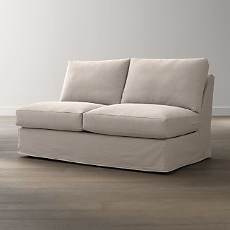 Axis II Slipcovered Armless Full Sleeper Sofa