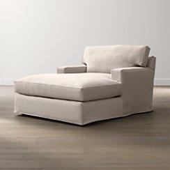 Axis II Slipcovered Chaise Lounge