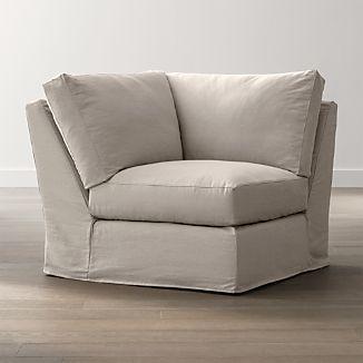 Axis II Slipcovered Corner Chair