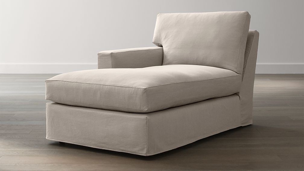 Axis II Slipcovered Left Arm Chaise
