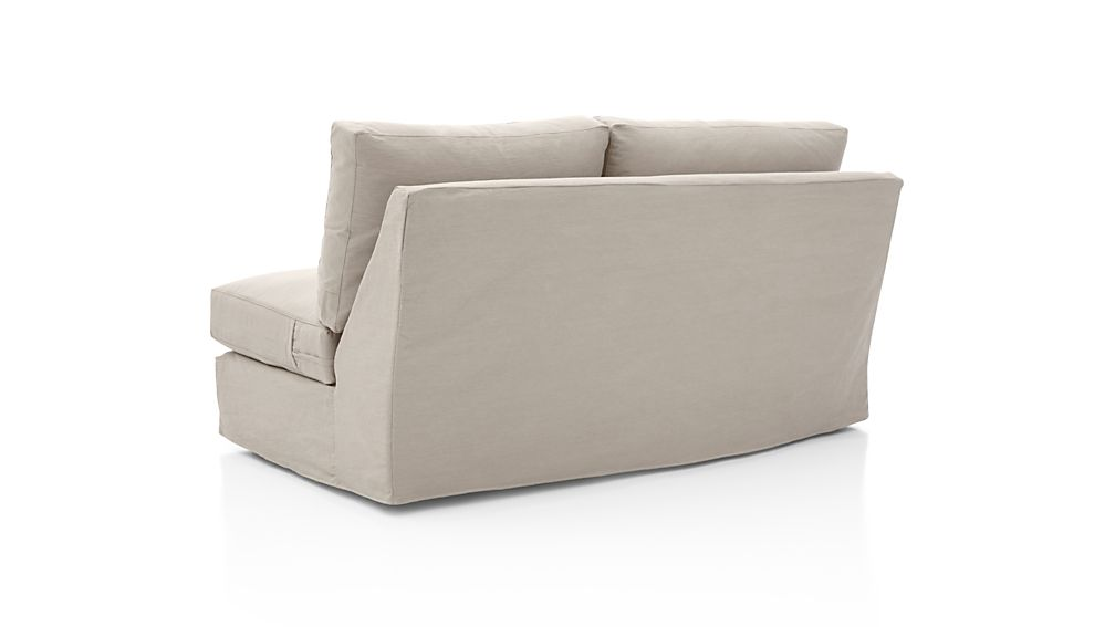 Axis II Slipcovered Left Arm Apartment Sofa