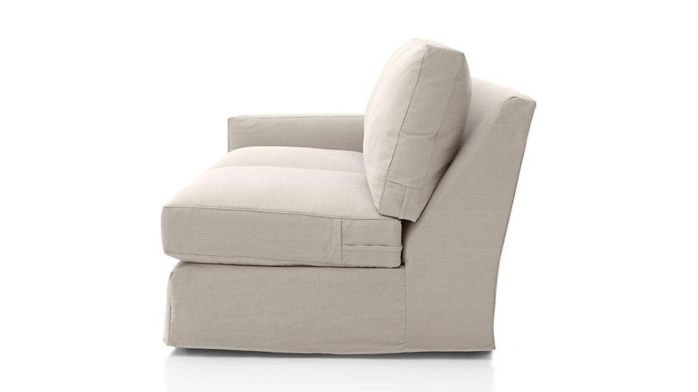 Axis II Slipcovered Left Arm Full Sleeper Sofa with Air Mattress