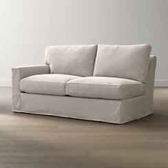 Axis II Slipcovered Left Arm Full Sleeper Sofa