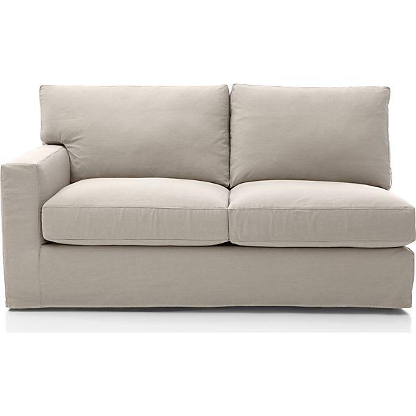 Axis II Slipcovered Left Arm Apartment Sofa