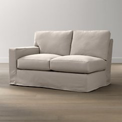 Axis II Slipcovered Left Arm Loveseat