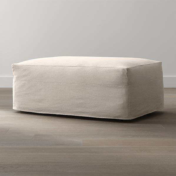 Axis II Slipcovered Storage Ottoman